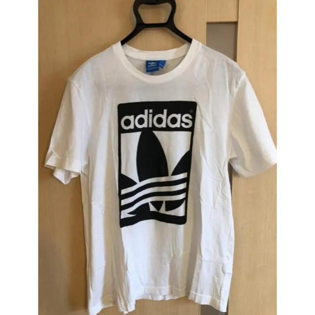adidas(アディダス)の美品 adidas Tシャツ アディダス O XL 白 white メンズのトップス(Tシャツ/カットソー(半袖/袖なし))の商品写真