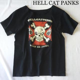 HELLCATPUNKS - HELL CAT PANKS ヘルキャットパンクス プリントTシャツ