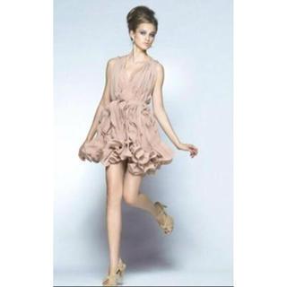 ダブルスタンダードクロージング(DOUBLE STANDARD CLOTHING)の♪豪華 ダブルスタンダード クロージング♪ピンクベージュ ドレス(ひざ丈ワンピース)