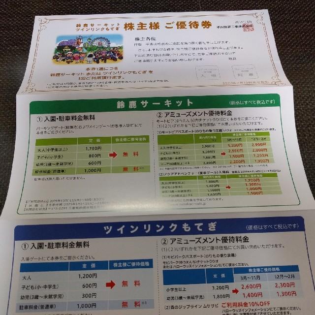 ホンダ(ホンダ)のホンダ 株主優待券 チケットの施設利用券(遊園地/テーマパーク)の商品写真
