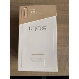 アイコス(IQOS)の新型アイコス3 IQOS3   ブリリアントゴールド 新品未開封 未登録❗️(タバコグッズ)
