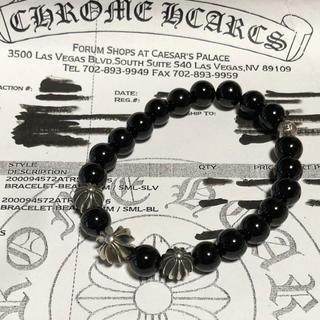 Chrome Hearts - 美品 クロムハーツ   ビーズブレスレット ブラック