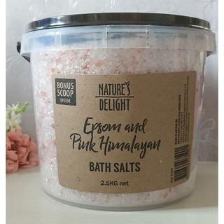 コストコ(コストコ)の2.5kg バケツ入 エプソムソルト+ピンクヒマラヤン岩塩(入浴剤/バスソルト)