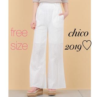 who's who Chico - 19SS最新作♡¥7452スタッフ着用多数✨レーシーパンツ 新品