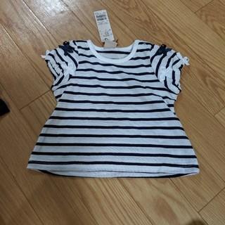 petit main - プティマイン 半袖パフスリーブTシャツ