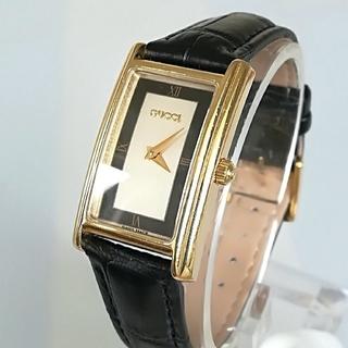 Gucci - 綺麗 グッチ ネイビー レディース ウォッチ 時計 新品 型押しベルト 美品