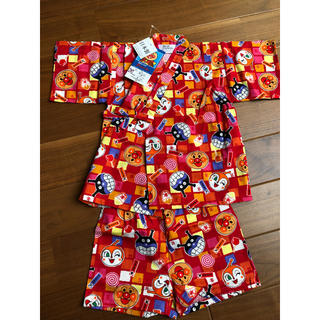 アンパンマン(アンパンマン)のアンパンマン  甚平 赤 100 日本製(甚平/浴衣)