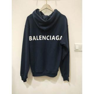 Balenciaga - BALENCIAGA ロゴプリント フード パーカー