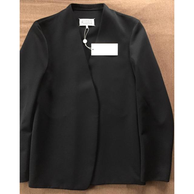 Maison Martin Margiela(マルタンマルジェラ)の値下19SS新品 マルジェラ ノーカラージャケット 48 今期 黒 メンズのジャケット/アウター(ノーカラージャケット)の商品写真
