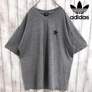 アディダス(adidas)の90s 古着 アディダス adidas トレフォイル 刺繍ロゴ Tシャツ(Tシャツ/カットソー(半袖/袖なし))