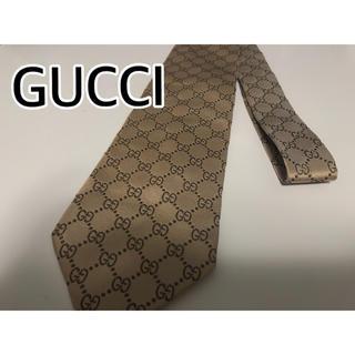 グッチ(Gucci)の[正規品]GUCCI グッチ ネクタイ GG柄 ベージュ (ネクタイ)