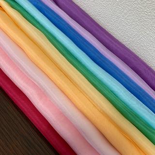4匁羽二重カラフル10枚寒色むら染め7枚セット(生地/糸)