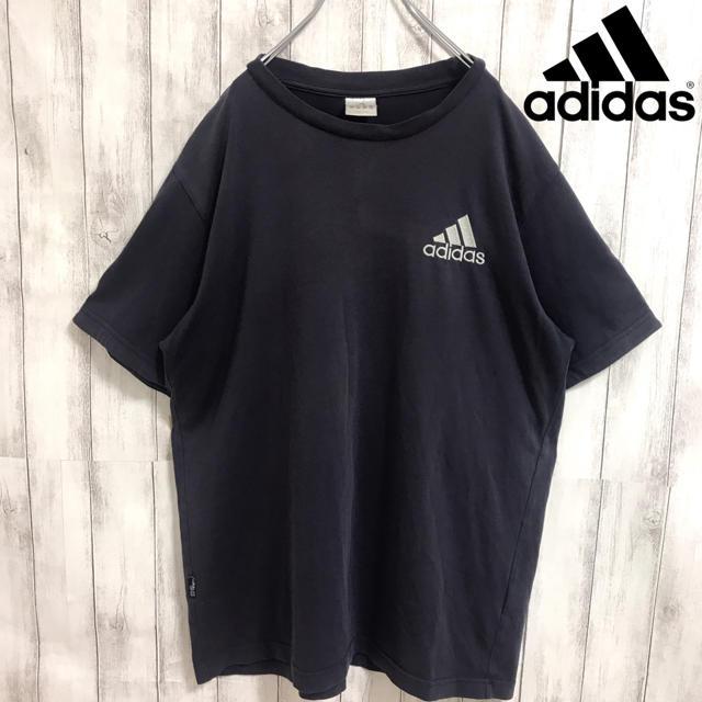 adidas(アディダス)の90s 古着 アディダス ワンポイント刺繍ロゴ スリーライン Tシャツ メンズのトップス(Tシャツ/カットソー(半袖/袖なし))の商品写真