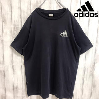 アディダス(adidas)の90s 古着 アディダス ワンポイント刺繍ロゴ スリーライン Tシャツ(Tシャツ/カットソー(半袖/袖なし))