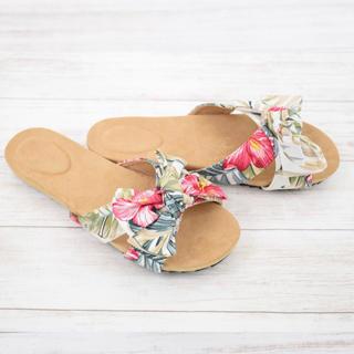 エスペランサ(ESPERANZA)の新品 shoes in closet サンダル 花柄 リボン ブランド パンプス(サンダル)