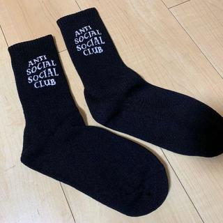 シュプリーム(Supreme)のanti social social club ソックス 黒(ソックス)