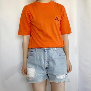アディダス(adidas)のadidas 80s デサント製ロゴ刺繍TEE(Tシャツ/カットソー(半袖/袖なし))