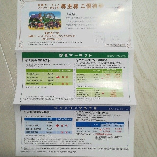 ホンダ(ホンダ)の鈴鹿サーキット/ツインリンクもてぎ 優待券 チケットの施設利用券(遊園地/テーマパーク)の商品写真