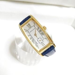 Hamilton - 美品 ハミルトン レディース腕時計 小ぶり 貴重純正紺リザードベルトモデル