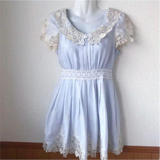 Secret Magic - シークレットマジック 裾レースワンピース ブルー