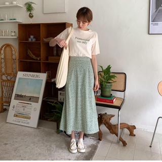 dholic - DHOLIC 小花柄フレアロングスカート