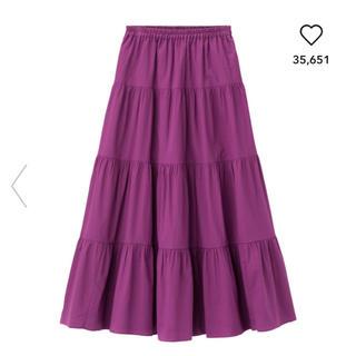 GU - GU☆ロングスカート☆パープル☆M☆フレアスカート