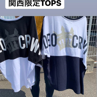 RODEO CROWNS WIDE BOWL - 関西限定 ドルマン バイカラー Tシャツ