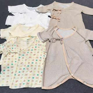 西松屋 - 新生児肌着6枚セット 短肌着&コンビ肌着&長肌着 男女兼用 50〜60