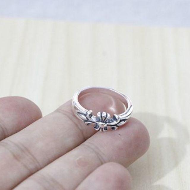 Chrome Hearts(クロムハーツ)のK160クロムハーツクロスリング メンズのアクセサリー(リング(指輪))の商品写真