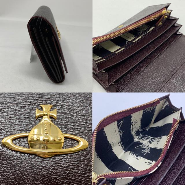 Vivienne Westwood(ヴィヴィアンウエストウッド)の未使用☺︎Vivienne Westwood 長財布 オーブ ダークブラウン * レディースのファッション小物(財布)の商品写真