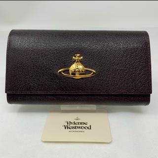 ヴィヴィアンウエストウッド(Vivienne Westwood)の未使用☺︎Vivienne Westwood 長財布 オーブ ダークブラウン *(財布)