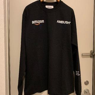 AMBUSH - AMBUSH Tシャツ 長袖 Amazon コラボ size2 黒