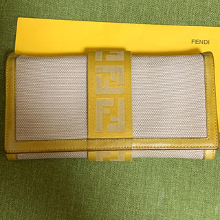 FENDI - FENDIフェンディベージュ2ツ折長サイフ