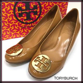 Tory Burch - TORYBURCH トリーバーチ エナメルウエッジソールパンプス 7サイズ