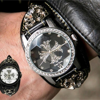 Chrome Hearts - クロムハーツ好きに レザー 腕時計