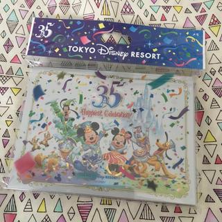 Disney - ディズニー 35周年メモ帳*未使用