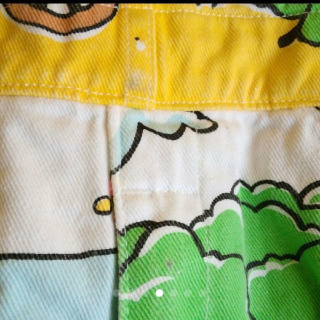 HYSTERIC MINI(ヒステリックミニ)のヒスミニ 総柄 オーバーオール キッズ/ベビー/マタニティのキッズ服 女の子用(90cm~)(パンツ/スパッツ)の商品写真