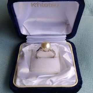 ダイヤ&プラチナ台真珠指輪(リング(指輪))