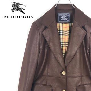 バーバリー(BURBERRY)の送料無料!バーバリーズ 最高級 プローサム 英国製 正規品 レザージャケット(テーラードジャケット)