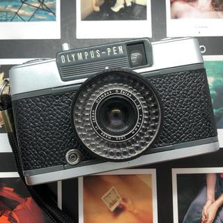 オリンパス(OLYMPUS)の【美品】OLYMPUS  PEN EE2 フィルムカメラ ブラック革【完動品】(フィルムカメラ)