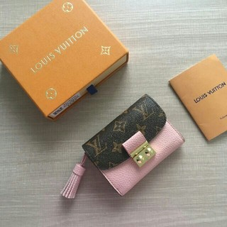 ルイヴィトン(LOUIS VUITTON)のLOUIS VUITTON  19ss新品 ピンク レディース 折りたたみ財布(折り財布)