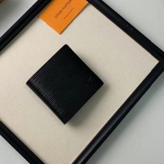ルイヴィトン(LOUIS VUITTON)の【LOUIS VUITTON】メンズ 折り財布 黒 新品 コインケース(折り財布)