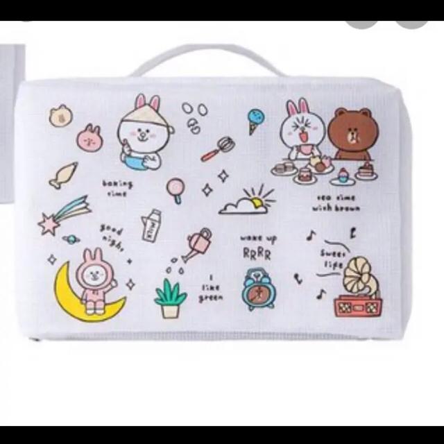サンリオ(サンリオ)の日本未発売  LINE FRIENDS ライン フレンズ スーツケース ブラウン エンタメ/ホビーのおもちゃ/ぬいぐるみ(キャラクターグッズ)の商品写真