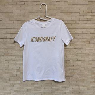 エイチアンドエム(H&M)のH&M ストーンロゴTシャツ(Tシャツ(半袖/袖なし))