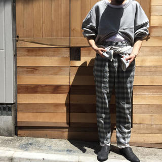 サンシー(SUNSEA)のCLAMP クランプ  チェックパンツ GARDEN 吾亦紅(スラックス)