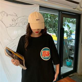 milkロゴTシャツ 韓国ファッション 数量限定