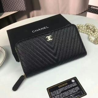 シャネル(CHANEL)のシャネル 長財布 小銭入れ 黒 レディース(長財布)