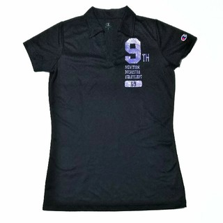 チャンピオン(Champion)のChampion レディース スポーツ用 ポロシャツ ブラック M ポリエステル(ポロシャツ)