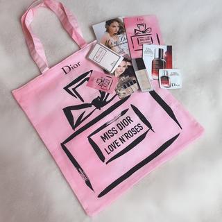 ディオール(Dior)のミスディオール  限定 トートバッグ、香水、ファンデーション 、美容液、試供品、(トートバッグ)