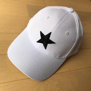 星 キャップ スター ホワイト サイズ調整可能 帽子 メンズ レディース 男女白